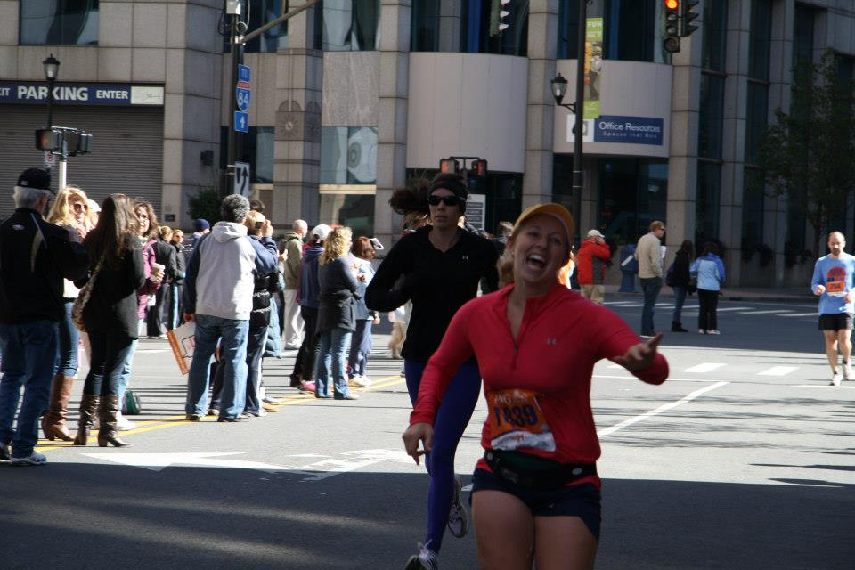 Jenny Richard '10, ran the marathon yesterday. Richard, here running the Hartford Marathon in October has raised thousands of dollars for the Dana Farber Cancer Foundation.