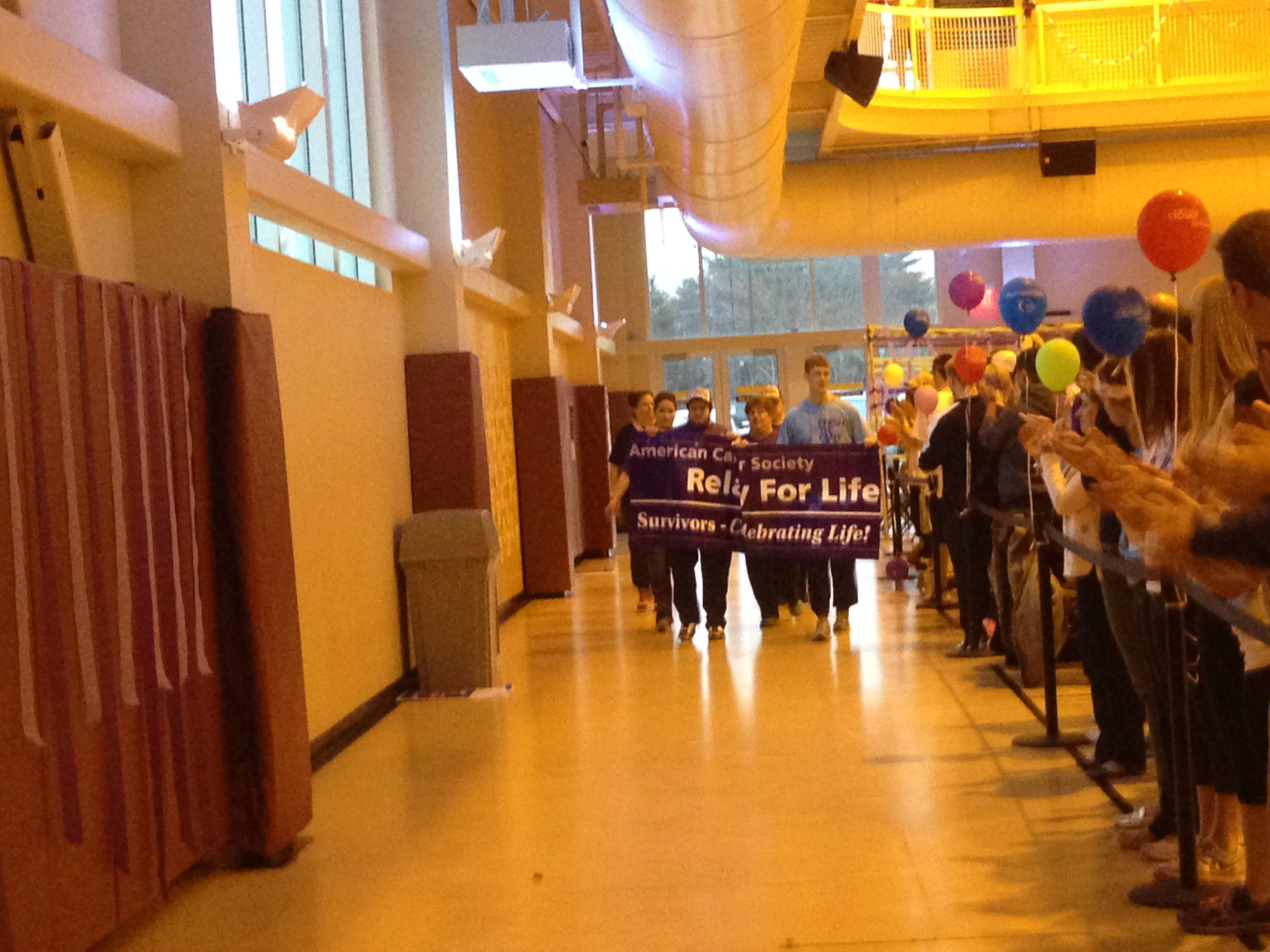 Survivors from the Merrimack community walked the first lap to start Relay For Life.