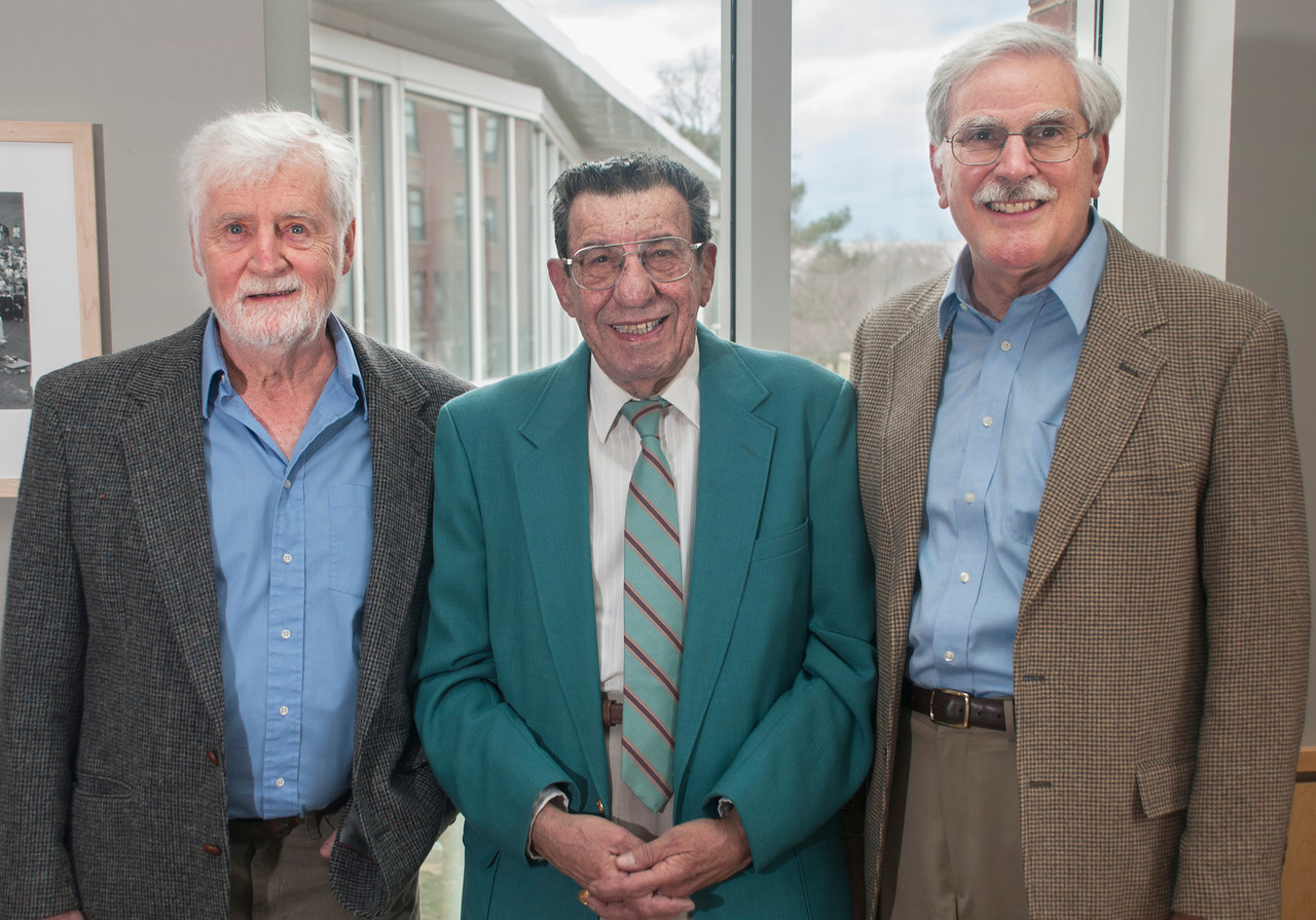 Three Professors Emeriti were recognized at the recent Professor Emeriti Reception held on campus:  Peter A. Ford, Ph.D., History; Curtis H. Martin, Ph.D., Political Science; and Steven A. Leone, Ph.D., Chemistry.