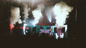 "I took this photo during the encore song at the Twenty-one Pilots concert. It was an amazing firework finale."" –Megan Lacombe"