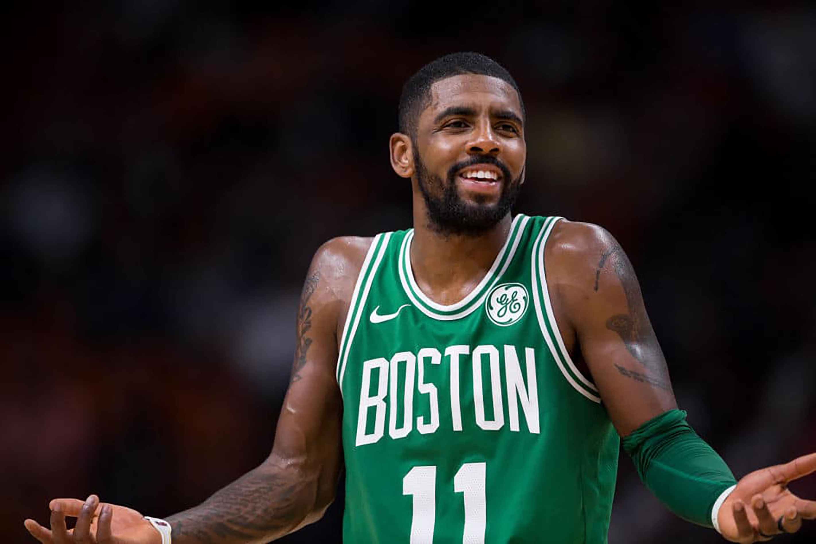 kyrie irving is taking the boston celtics